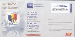 COLLAPSE OF COMMUNISM IN EASTERN EUROPE, COVER STATIONERY, ENTIER POSTAL, 2019, ROMANIA - Postal Stationery