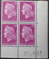 R1949/834 - 1967 - TYPE MARIANNE DE CHEFFER - N°1536 BLOC NEUF** CdF Daté - 1960-1969