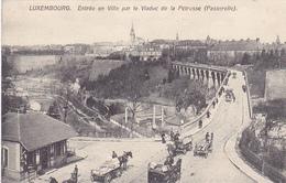 Cpa -luxembourg-animée- Entree En Ville Par Le Viaduc De La Petrusse ( Passerelle) - Luxembourg - Ville