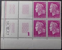 R1949/835 - 1967 - TYPE MARIANNE DE CHEFFER - N°1536 BLOC NEUF** ☛☛☛ CdF Daté à GAUCHE - 1960-1969