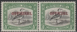South West Africa 1945 - SG O18, 1/2d - OFFICIAL - PAIR, MNH - South West Africa (1923-1990)