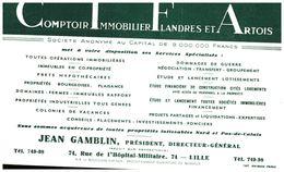 Co Ifa/Buvard Comptoir Imobilier Flandre Et Artois (Format 21 X  14) (N= 1) - Carte Assorbenti