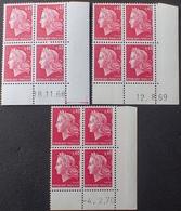 R1949/837 - 1968 à 1970 - TYPE MARIANNE DE CHEFFER - N°1536B BLOCS NEUFS** CdF Datés (BLOC De 1969 Non Compté) - 1960-1969