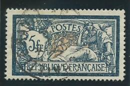 FRANCE: Obl., N° 123, Bleu Et Chamois, Centré, TB - 1900-27 Merson