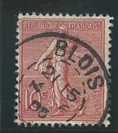 FRANCE: Obl., N° 129a, Rose, T.II, TB - 1903-60 Semeuse Lignée
