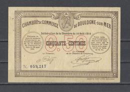 Chambre De Commerce De BOULOGNE SUR MER   Billet De 50c - Cámara De Comercio