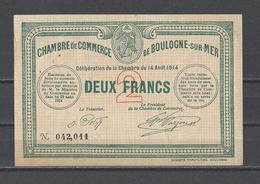Chambre De Commerce De BOULOGNE SUR MER   Billet De 2.00F - Cámara De Comercio