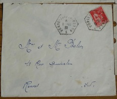 Porte Avion Bearn 1 -11-1935 Paix 50c Lettre 283 - 1932-39 Frieden