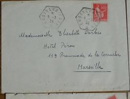 Bateau Croiseur Foch   9 Mars 1934 Paix 50c Lettre 283 - 1932-39 Frieden