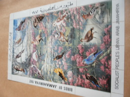 Sheetlet Libya 1982 Birds Of Jamahiriya - Libya