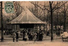 Manège Au Bois De Vincennes 1907 - édition Photo-phono Paris - Oblitération 14 Juillet (jour Férié ??) - Parks, Gardens