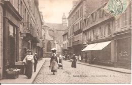 SAINT-BRIEUC (22) Rue Saint-Gilles En 1906 (Belle Animation) - Saint-Brieuc