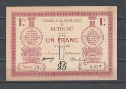 Chambre De Commerce De BETHUNE   Billet De 1.00F - Chamber Of Commerce
