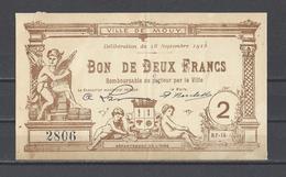 Bon Nécessité  Ville De MOUY  Bon De 2.00F - Bonos