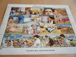 Sheetlet Libya 1986 The Great Man River Builder - Libya