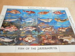 Sheetlet Libya 1983 Fish Of Jamahiriya - Libya