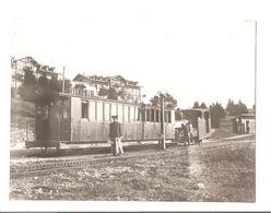 Aix Les Bain - Chemin De Fer Mon Revard -  Le Train En Gare  - Gros Plan - Locomotive -  Vers 1900 - Trains