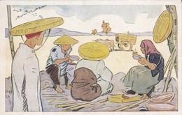 ASIE---LE RIZ D'INDO-CHINE--Repas Des Moissonneurs---illustrateur   ?---voir 2 Scans - Illustrateurs & Photographes