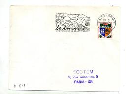 Lettre Flamme Saint Denis Roche Ecrite - Reunion Island (1852-1975)