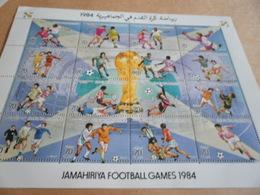 Sheetlet Libya 1984 Jamahiriya Football Games - Libya