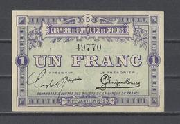 Chambre De Commerce De CAHORS  Billet De 1.00F - Cámara De Comercio