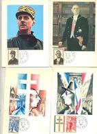 4 Carte Cachet Lille Vue De Gaulle - Marcophilie (Lettres)