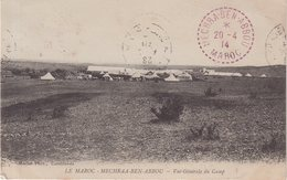 MAROC : TYPE BLANC . OBL . CAMP DE MECHRA - BEN - ABBOU . 1914 . - Marocco (1891-1956)