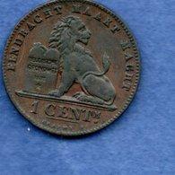 Belgique  - 1 Centime 1887  -  Km # 34.1  -  état  SUP - 1865-1909: Leopoldo II