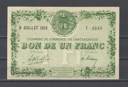 Chambre De Commerce De CHATEAUROUX  Billet De 1.00F - Cámara De Comercio