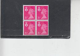 GRAN BRETAGNA  1971 - Unificato 624 (quartina) - Nord Irlanda - Regionali