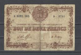 Chambre De Commerce De CHATEAUROUX  Billet De 2.00F - Cámara De Comercio