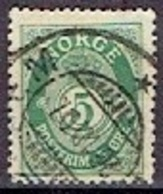 NORWAY # FROM 1893-98 STAMPWORLD 55A  TK: 14 1/2 X 13 1/2 - Norvège