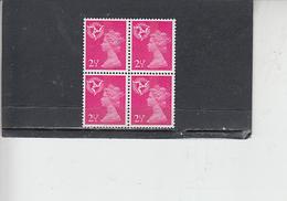 GRAN BRETAGNA  1971 - Unificato 626 (quartina) -  Man - Regionali