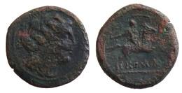 [H] +++ AE Semiuncia, 217 – 215 BC. Anonymous Issue. Kybele / Rider. Crawford 39/5. Scarce +++ - Römische Münzen