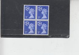 GRAN BRETAGNA  1971 - Unificato 631 (quartina) - Galles - Regionali