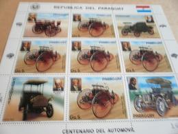 Sheetlet Paraguay 1986 Benz Opal Daimler Car Makers - Paraguay