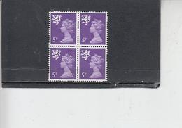 GRAN BRETAGNA  1971 - Unificato 632 (quartina) - Scozia - Regionali