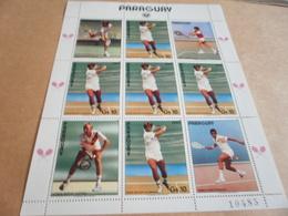 Sheetlet Paraguay 1986 Tennis Stars Players - Paraguay