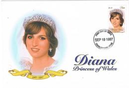 32930. Carta F.D.C. CHARLESTON (Nevis) 1997. Lady DI, Princess Of Wales - St.Kitts Y Nevis ( 1983-...)