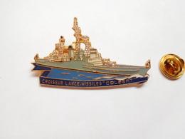 Beau Pin's , Marine Nationale , Bateau Croiseur Lance Missiles Colbert , Signé Segalen Collection - Barcos