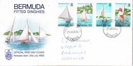 32932. Carta F.D.C. DEVONSHIRE SOUTH (Bermuda) 1983. Ships, Barcos Vela. Fitted Dinghies - Bermudas