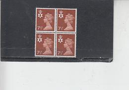 GRAN BRETAGNA  1971 - Unificato 637 (quartina) - Nord Irlanda - Regionali
