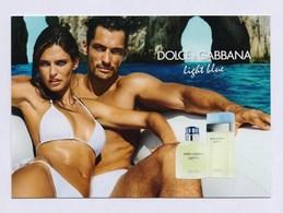 DOLCE & GABBANA - Light Blue --- Carte Parfumée Perfume Card Avec 2 Patch - Duftkarten