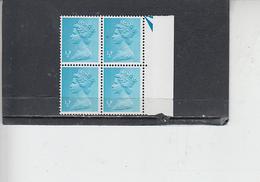GRAN BRETAGNA  1971 - Unificato 605 (quartina) -  Elisabetta - Nuovi