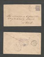 NICARAGUA. 1898 (25 Sept) Juigalpa - USA, NYC (21 Oct) 10c Lilac Stationary Envelope, Oval Cds In Violet. Via Corinto (2 - Nicaragua