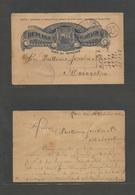 NICARAGUA. 1893 (10 Oct) Leon - Matagolpa (20 Oct) 2c Blue Interior Stationary Early Card. Fine + Scarce. - Nicaragua