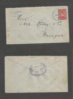 NICARAGUA. 1897 (June 4) Corinto - Managua (June 5) 5c Red Stationary Envelope. Fine Condition. - Nicaragua