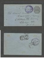 NICARAGUA. 1892 (14 Junio) Leon - USA, Chicago, Ill. Via Corinto (14 Junio) - NYC (30 June) 10c Grey 1892 Colon Issue St - Nicaragua