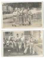CPA Carte Photo SOUVENIR DU CAMP DE BITCHE Le 22 Juillet 1934 (LOT DE 2 Cartes Photos) - Manoeuvres