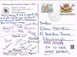 32935. Postal Aerea PRAHA (republica Checa) 1998. Scouts. Asociacion De Amigos Jaroslava Foglara - Cartas